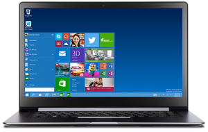 Laptop mit Windows 1O